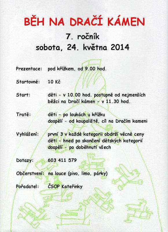 Plakát Běhu na Dračí kámen 2014